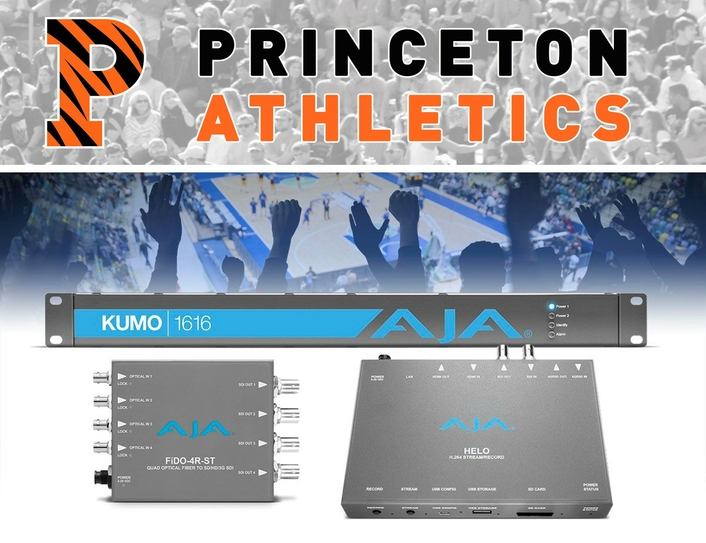 Princeton Athletics Ups its Live Streaming Game with AJA Gear