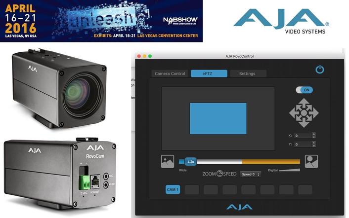 AJA Announces RovoControl Software for Controlling  RovoCam Compact Block Cameras
