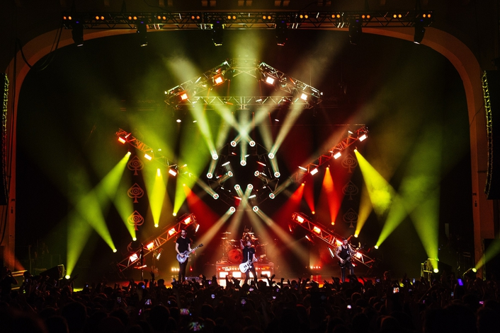 LD Jeff Maker uses Elation ACL 360 Bar™ and Protron 3K Color™ LED strobe to create big arena looks in smaller venues