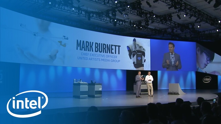 MGM Television Group and Digital President Mark Burnett joined Krzanich onstage