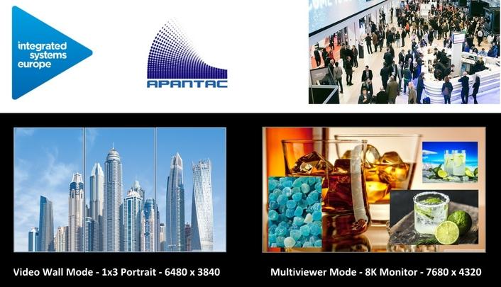 Apantac Debuts 8K Multiviewer at ISE2020