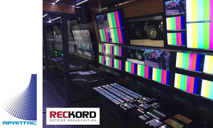 Reckord Outside Broadcast Chooses Apantac Multiviewers for New 4K OB Van