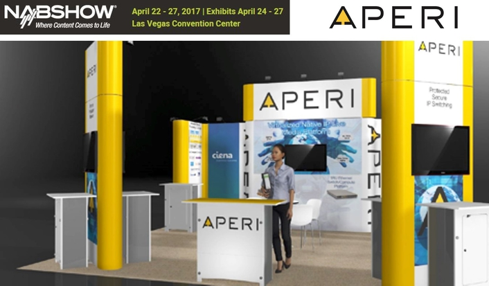 Aperi to demonstrate real-word integrated native-IP live production at NAB2017