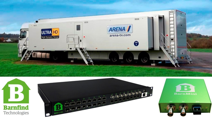 Arena Television chooses Barnfind Gear for World's First 4K IP Trucks