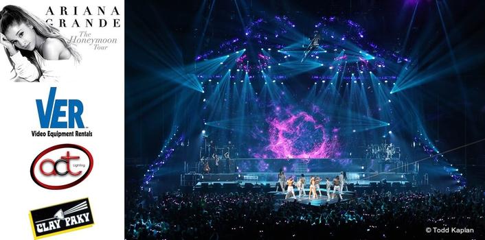 Ariana Grande Tour Sparkles with Clay Paky