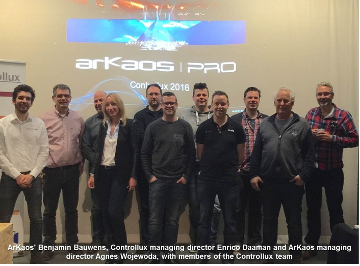 ArKaos PRO appoints Controllux as exclusive distributor for Benelux