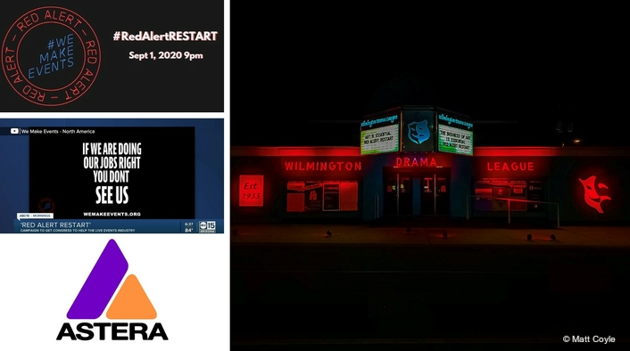 Astera for #RedAlertRESTART  Lighting Action in the US
