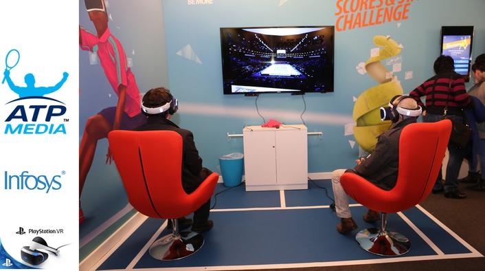 'WORLD FIRST' BARCLAYS ATP WORLD TOUR FINALS EXPERIENCE POWERED BY INFOSYS TO BE PIONEERED ON PLAYSTATION®VR