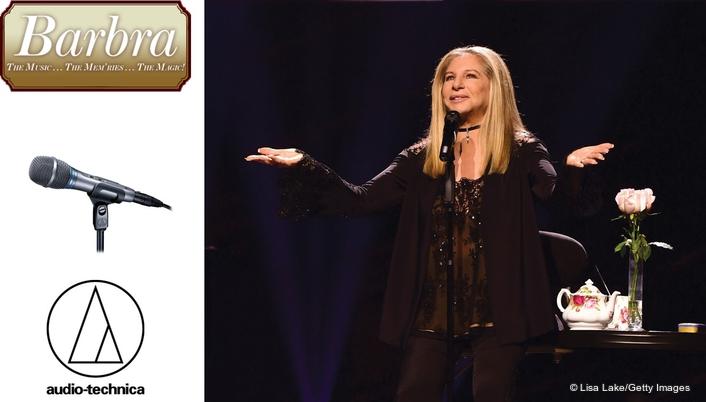 Audio-Technica Microphones Selected by David Reitzas for Barbra Streisand
