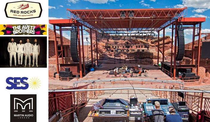 Avett Brothers Triumph At Red Rocks With Martin Audio MLA