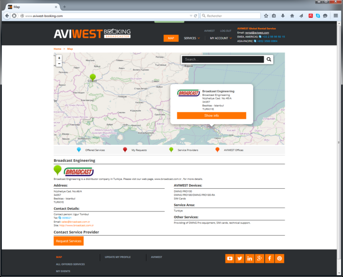 AVIWEST Launches New Web Portal to Simplify Renting Digital Mobile News Gathering Equipment