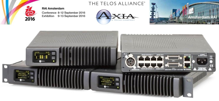 Axia Audio Shows Flexible 'Matrix Mixer' Feature for xNode High-Performance IP-Audio Interfaces at IBC 2016