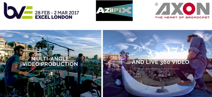 Axon Shows AZilPix virtual camera system for live video capture & streaming at BVE2017