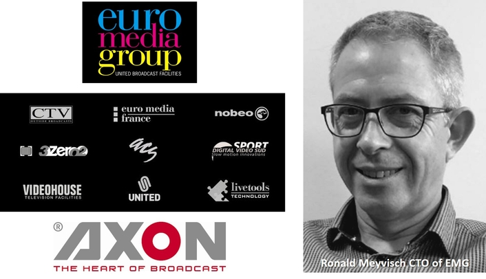 EMG (Euro Media Group) selects Axon as a strategic technology partner for their future IP based media solutions.