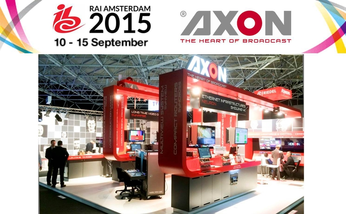 Axon Showcases UHD, Control & Monitoring and AVB For Production Environments at IBC2015