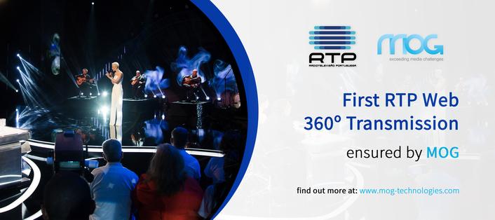 First RTP Web 360º Transmission Ensured by MOG
