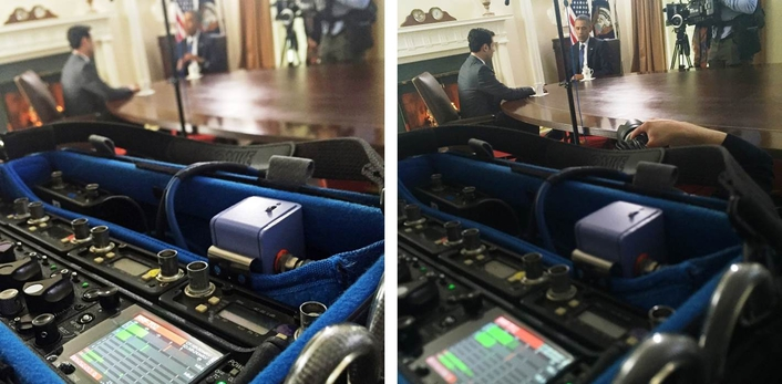 SOUND DEVICES VISITS THE WHITE HOUSE  AND THE PRESIDENT OF THE UNITED STATES