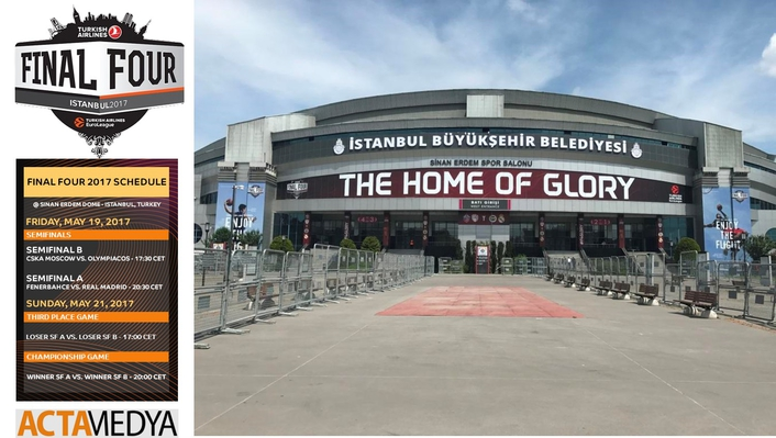 ACTAMEDYA PREPARES SINAN ERDEM DOME FOR EUROLEAGUE 2017 FINAL FOUR
