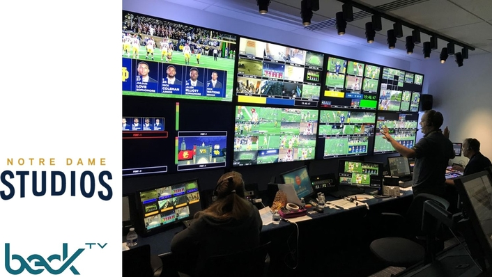 In Collaboration With BeckTV, Notre Dame Debuts Cutting-Edge, IP-Centric Production Facility