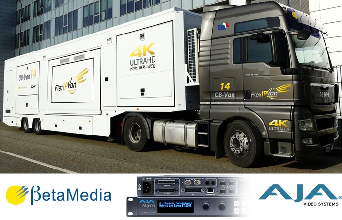 24 AJA FS-HDRs Power 4K/UHD HDR Conversion for BetaMedia/DBW Mobile Productions