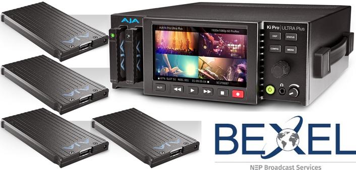 Bexel Adds 20 AJA Ki Pro Ultra Plus Recorders and 80 AJA Pak Media PAK1000 SSD Storage Cards to Inventory