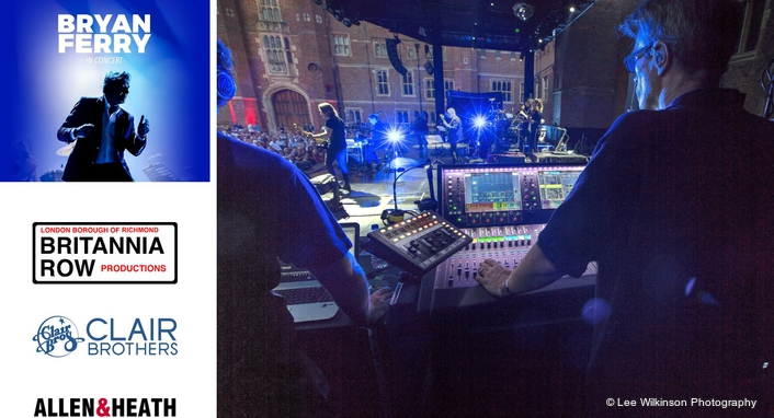 Bryan Ferry is on tour across the USA and Europe, including various dates on the festival circuit, carrying a dLive S Class mixing system from Allen & Heath to manage monitors