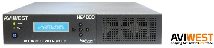 AVIWEST Launches HE4000 HEVC Encoder for Live UHD Video Delivery