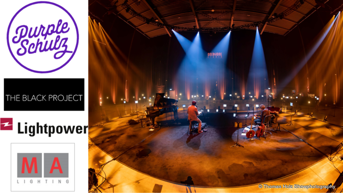One concert, many technical remote locations: Purple Schulz's performance is completely remote controlled