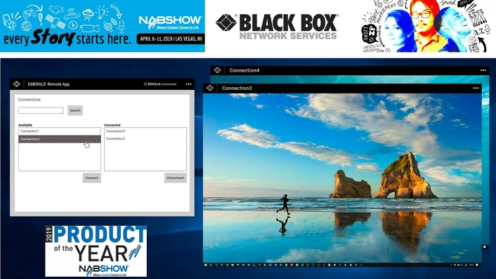 Black Box Earns Top 2019 NAB Show Honors for Its Emerald Unified KVM Platform