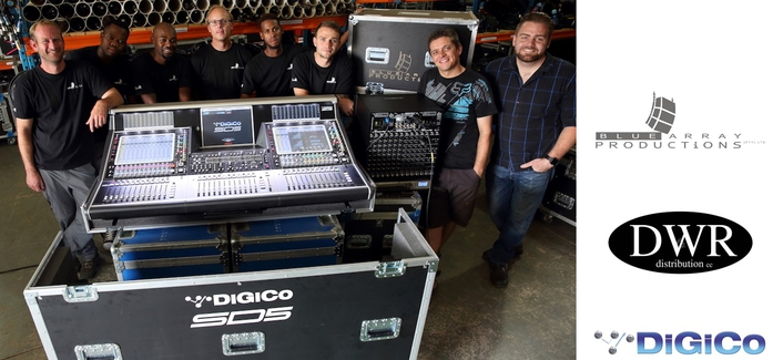 Leading South African technical supplier Blue Array Productions has invested in the first DiGiCo SD5 in Africa, purchased from DiGiCo distributor, DWR Distribution