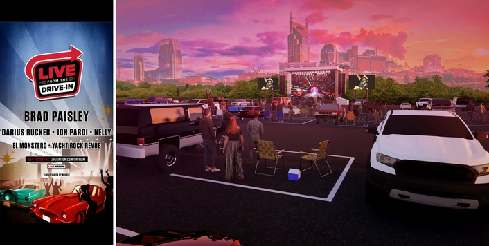 Live Nation Launching Drive-In Concert Series With Brad Paisley, Nelly, Darius RuckerLive Nation