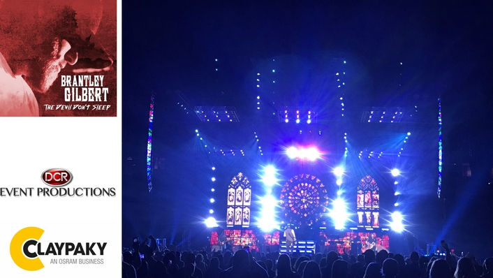 Large Array of Claypaky Lighting Fixtures Hits the Road with Brantley Gilbert's The Devil Don't Sleep Tour