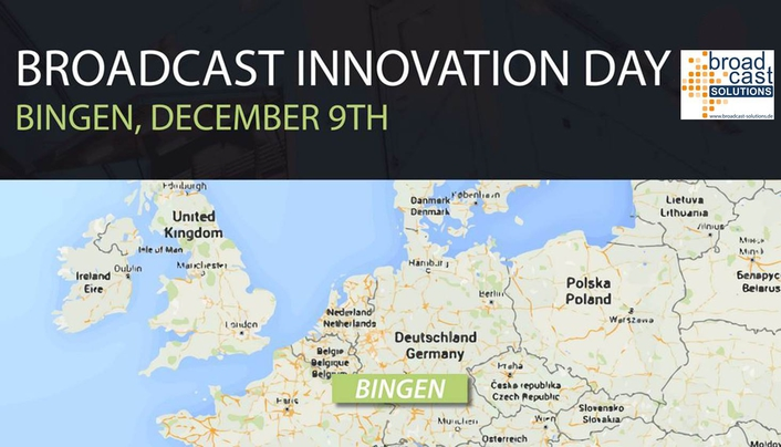 December 9th, Broadcast Solutions will host a Broadcast Innovation Day at their headquarter in Bingen / Germany