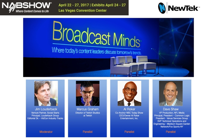 "NewTek's Eighth Annual Broadcast Minds at NAB 2017  Focusing On The Future With ""The Power To See Ahead"""