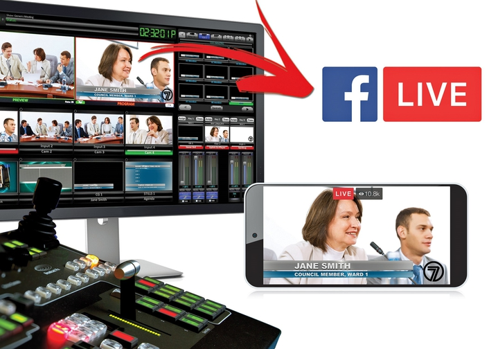 Broadcast Pix Upgrade Adds Native Facebook Live Support to Integrated Production Switchers