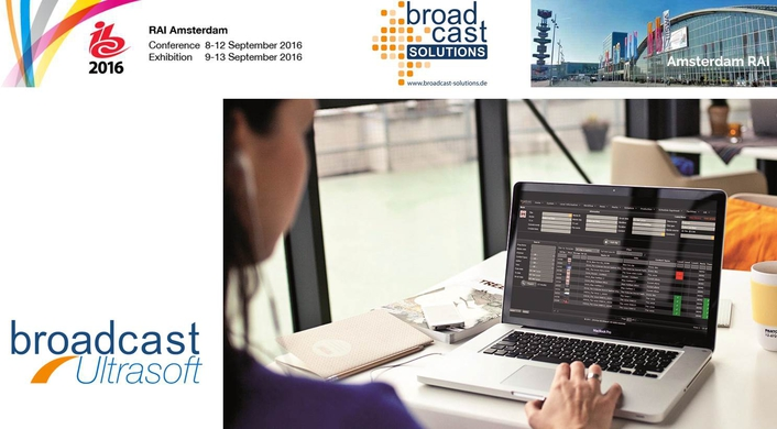 Broadcast Solutions with IBC premiere (8.A74) of new product Broadcast Ultrasoft - Powerful Suite for Software Defined Broadcast