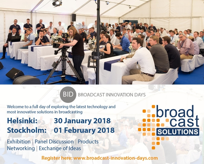Broadcast Solutions Goes North with Broadcast Innovation Days in Helsinki and Stockholm in 2018