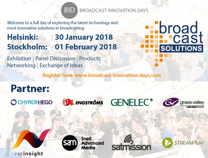 Broadcast Innovation Days Nordic – Full Programme and Speakers Released