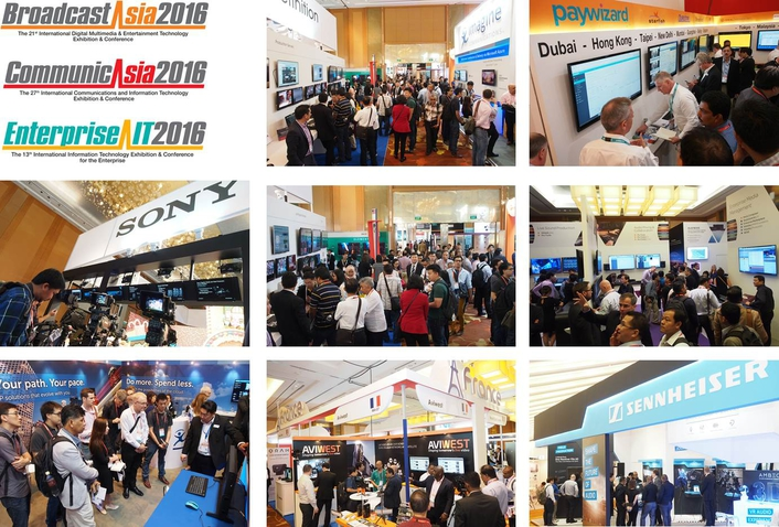 New Content and Innovations Showcased at CommunicAsia2016, EnterpriseIT2016 and BroadcastAsia2016
