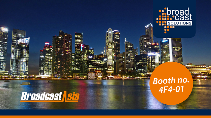Broadcast Solutions to showcase latest studio and OB developments plus future driven products at Broadcast Asia Show (4F4-01)