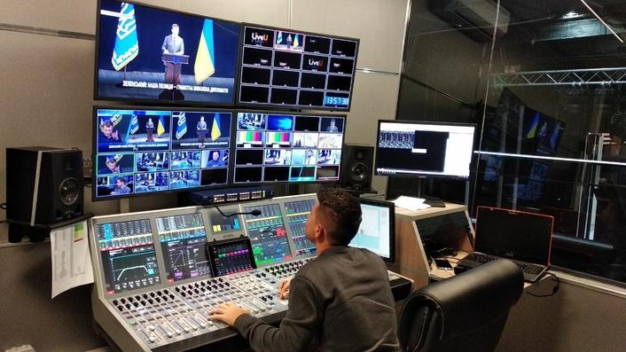 Ukraine's Nash TV channel chooses two Calrec Artemis consoles for 24/7 news programming