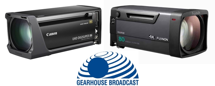 Gearhouse Broadcast further increases 4K focus with Canon and Fujinon lens investment