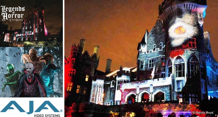"AJA KONA and Io 4K Help Color Casa Loma's ""Legends of Horror"""