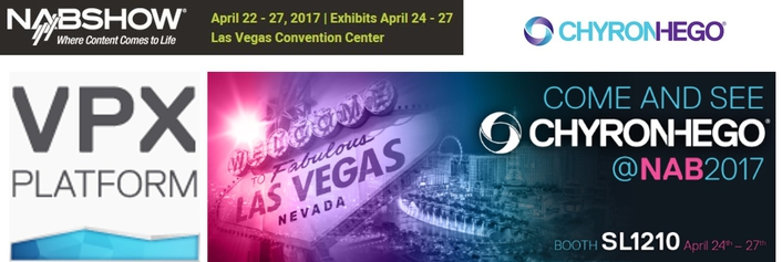 ChyronHego to Preview the VPX Virtual Production Server at 2017 NAB Show