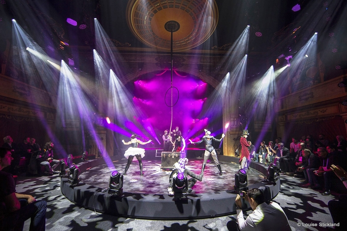 Cirque Robe,' a colourful 6-minute performance spectacle with a cast of 11 was designed to highlight the Czech manufacturer's latest lighting technologies.