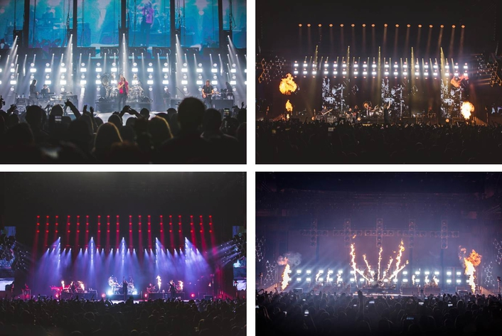Alain Corthout was lighting designer for the tour, which featured 107 Clay Paky Mythos, 54 A.leda B-EYE K10s, 32 A.leda B-EYE K20s and 36 Stormys in the rig