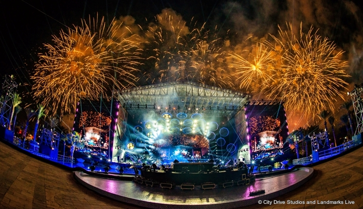 KISS 2020 Goodbye New Year's Eve Concert from Dubai Features Claypaky Mythos 2 and Scenius Unicos for Architectural and Stage Lighting