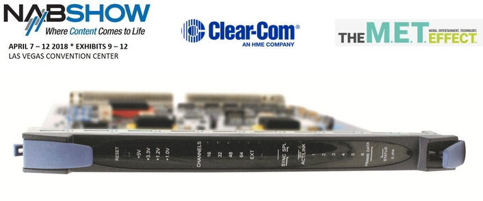 CLEAR-COM LAUNCHES E-IPA IP CONNECTION CARD FOR ECLIPSE HX INTERCOM