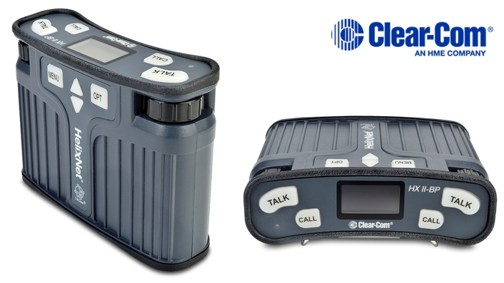 CLEAR-COM'S NEW HELIXNET DIGITAL BELTPACK NOW SHIPPING