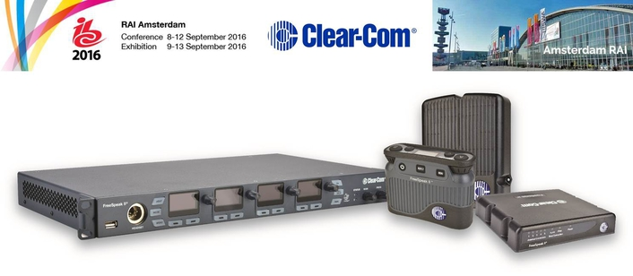 CLEAR-COM CONFIRMED AS technical Supporter fOR  communications SOLUTIONS  in the IBC BIG SCREEN auditorium